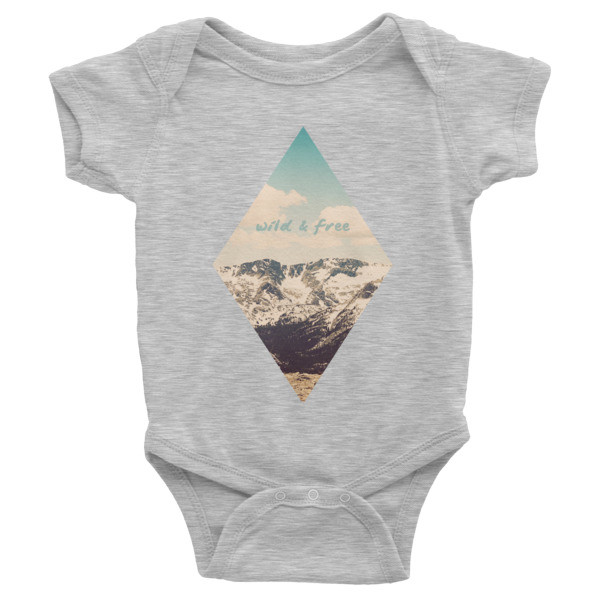 Wild and Free Infant short sleeve one-piece