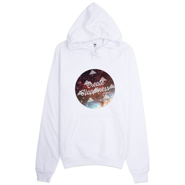 Create Happiness™ Galaxy American Apparel Hoodie