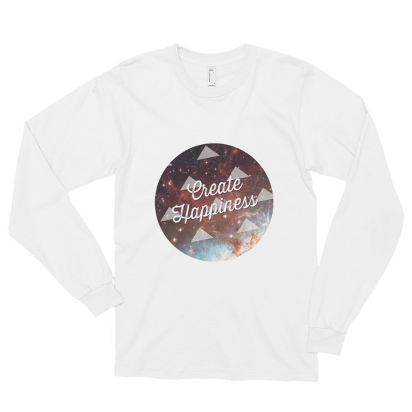 Create Happiness American Apparel Long sleeve t-shirt (unisex)