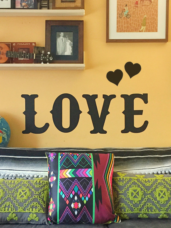 LOVE Chalkboard Removable Wall Decal Set