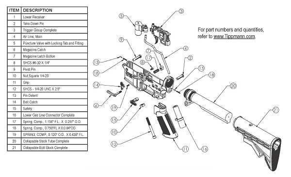 tippmann deluxe parts kit for m4 airsoft gun fox airsoft : m4 parts diagram - findchart.co