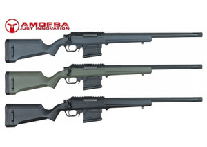 Ares Amoeba AS-01 Striker Sniper Rifles in Black Olive Drab and Urban Grey  Right Side View
