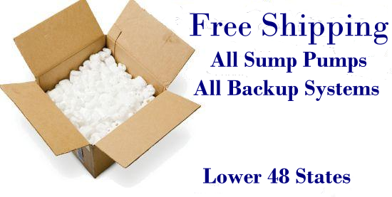Free Sump Pump Shipping