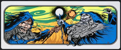 Dirty Donny Wizard Fight Art Silkscreen Print Poster 2010 Image