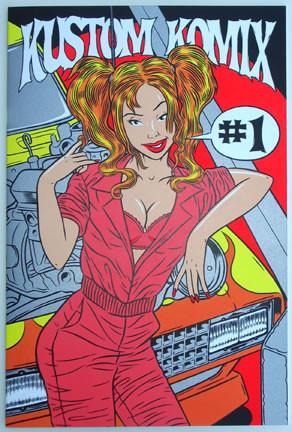 Firehouse Kustom Komics #1 Silkscreen Comic Book Color Image