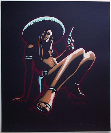 Almera Chica Peligrosa Silkscreen Art Print Image