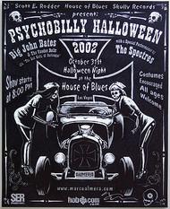 Almera Psychobilly Halloween Silkscreen Concert Poster Image