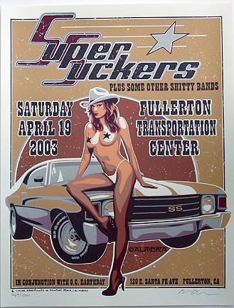 Almera Super Suckers Silkscreen Concert Poster Image