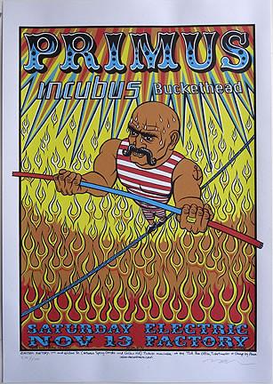 Almera Primus Incubus, Silkscreen Concert Poster Image