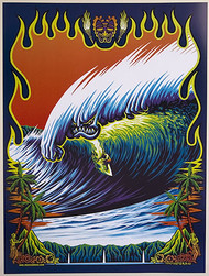 Almera Monster Wave Signed Art Print Image