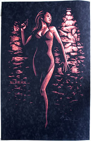 Almera Shadow Signed Silkscreen Art Print Iamge