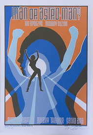Almera Man or Astroman? Silkscreen Concert Poster Image