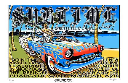 Almera Sublime 1997 Silkscreen Poster Image