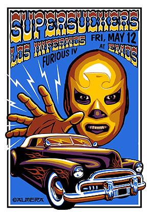 Almera Supersuckers EMOs Silkscreen  Concert Poster Image