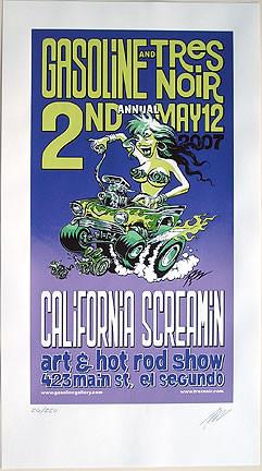 Pizz California Screamin Art Show Silkscreen Poster 2007 Image