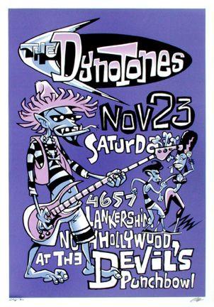 Pizz Dynotones 2002 Silkscreen Concert Poster Image
