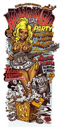 Rockin' Jelly Bean Klang Und Kleid Burlesque Silkscreen Poster Image