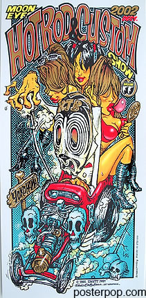 RJB Mooneyes Japan 2002 Silkscreen Poster Image