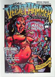 Rockin JellyBean Velvet Hammer Signed Silkscreen Poster Image