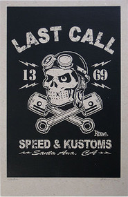 Kruse Last Call - Speed & Kustoms 2008 Silkscreen Poster Image