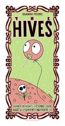 Tara McPherson The Hives Silkscreen Concert Poster Image