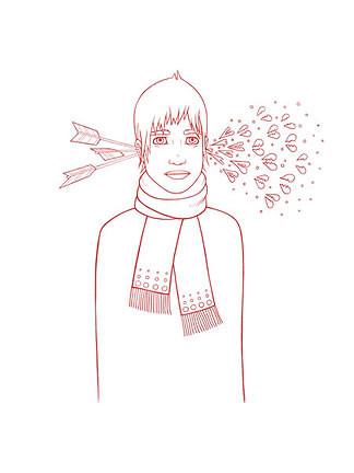 Tara McPherson Boy and Arrow Silkscreen Art Print Image
