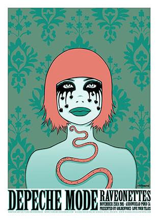 Tara McPherson Depeche Mode Silkscreen Concert Poster 2005 image