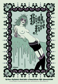 Tara McPherson High On Fire 2006 Silkscreen Concert Poster Image
