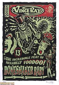 Vince Ray Bone Shaker Baby Silkscreen Poster Image