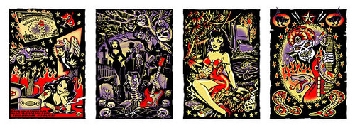 Vince Ray's 'Voodoo Blues from A Furlined Swamp' Silkscreen Art Print Portfolio Image