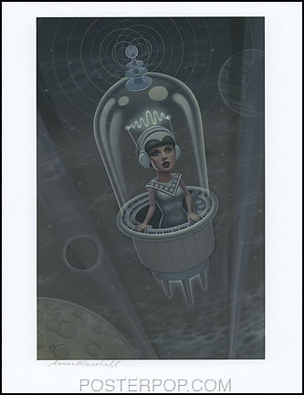 Aaron Marshall Amaranth Hand Signed Artist Print  8-1/2 x 11