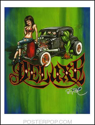 BigToe Heidi Deluxe Hand Signed Artist Print  8-1/2 x 11