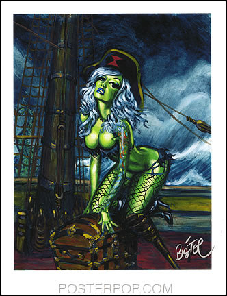 BigToe Tell No Tails Hand Signed Artist Print  8-1/2 x 11