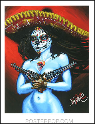 BigToe Chica Termino Hand Signed Artist Print  8-1/2 x 11