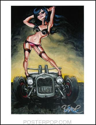 BigToe Lust Hand Signed Artist Print  8-1/2 x 11