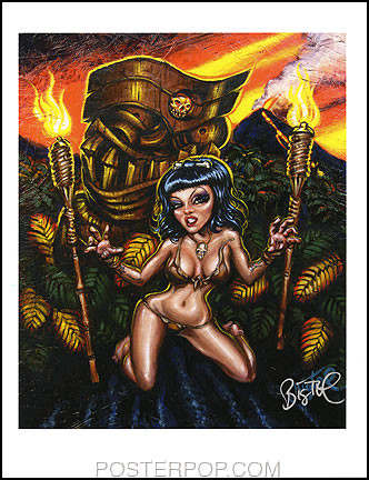 BigToe Feral Guardian Hand Signed Artist Print  8-1/2 x 11