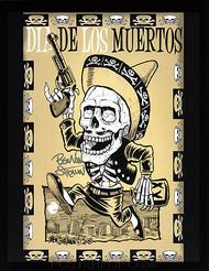 Ben Von Strawn Los Muertos Hand Signed 8-1/2 x 11' Print Image