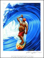 Almera Mas Chignon Hand Signed Artist Print  8-1/2 x 11 Image