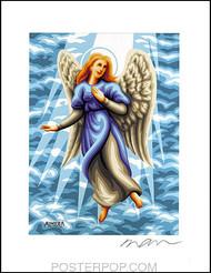 Almera Angel Sarah Hand Signed Artist Print  8-1/2 x 11 Image