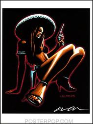 Almera Chica Peligrosa Hand Signed Artist Print  8-1/2 x 11 Image