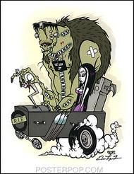 Pigors Monster Koach Hand Signed Artist Print  8-1/2 x 11 Image