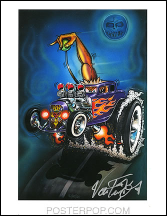 Von Franco Monster Shifter Hand Signed Artist Print  8-1/2 x 11 Image