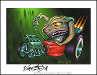 Von Franco Creature Rod Hand Signed Artist Print  8-1/2 x 11 Image