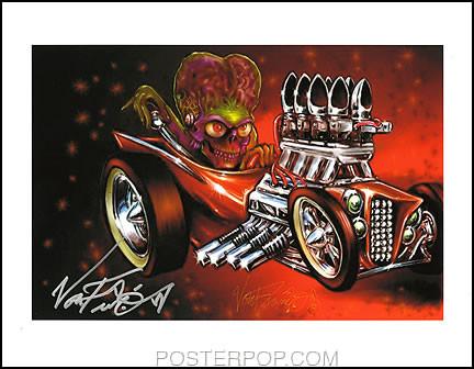 Von Franco Atomic Marz Hand Signed Artist Print  8-1/2 x 11 Image