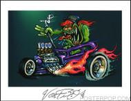 Von Franco Lover Boy Hand Signed Artist Print  8-1/2 x 11 Image