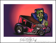 Von Franco Chop Top Bill Hand Signed Artist Print  8-1/2 x 11
