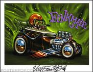 Von Franco Fink Mair Hand Signed Artist Print  8-1/2 x 11 Image