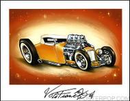 Von Franco Golden Rod Hand Signed Artist Print  8-1/2 x 11 Image