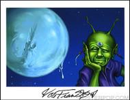 Von Franco Von Alien Hand Signed Artist Print  8-1/2 x 11