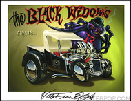 Von Franco Black Widows Hand Signed Artist Print  8-1/2 x 11 Image